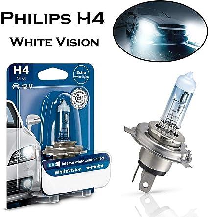 1x Philips H4 12342WHVB1 Fernlicht Abblendlicht Intensiv Weiß Birne E-geprüft