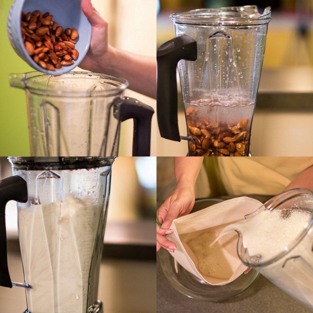 Compra 2 x Bolsa de Leche | - Trapo | Bolsa de filtro Juego de frutos secos para hecha Leche alternativas como nogal Leche, almendra de frutas/verduras Zumo ...