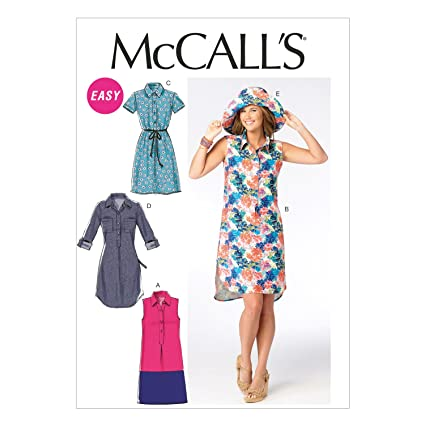 d6be0e29f32 Image Unavailable. Image not available for. Color  McCall Pattern Company  M6885 Misses  Dresses and Hat Sewing Template ...