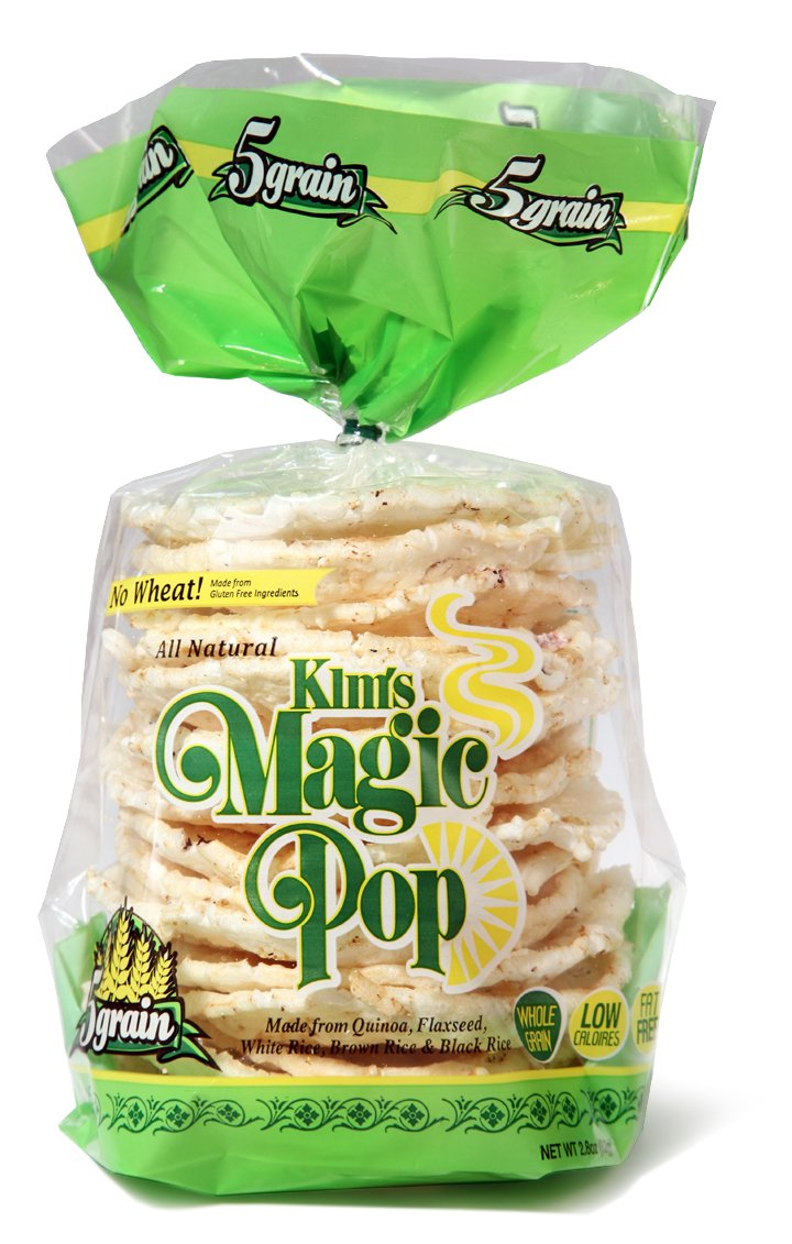 Kims Magic Pop 5 Grain, Made from Gluten Free Ingredients, 18-Packs: Freshly Popped Rice Cakes, Healthy Grain Snack, 0 Weight Watchers Point: Amazon.com: ...