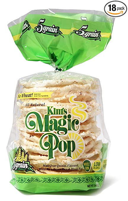 Com Kim S Magic Pop 5 Grain Made From Gluten Free Ings 18 Packs Freshly Popped Rice Cakes Healthy Snack 0 Weight Watchers Point