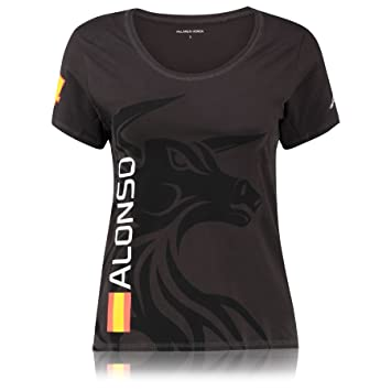 Para Camiseta Cierre Fernando Honda Mujer De Mclaren Manga Alonso reECWdoQxB