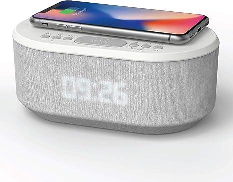 Radio Despertador Digital con Carga Inalambrica, Puerto de
