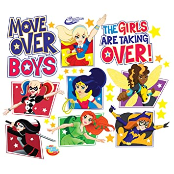 Amazoncom DC Super Hero Girls Wall Decal Set Home Kitchen - Superhero wall decals for girls
