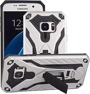 COOVY® Funda para Samsung Galaxy S7 Edge SM-G935F SM-G935 de plástico y Silicona TPU, extrafuerte, protección contra Golpes, Funda con función Atril | Color