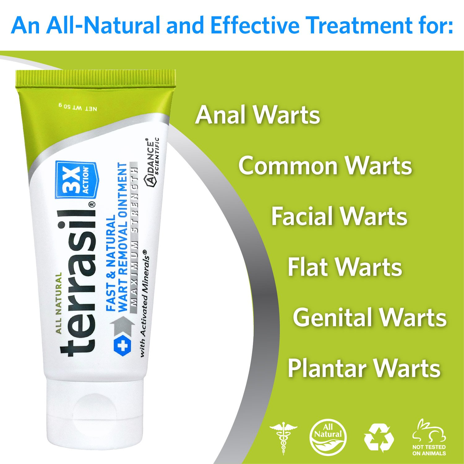 Terrasil Fast & Natural Wart Removal Ointment (50 Gram, Max) by Aidance Skincare & Topical Solutions (Image #2)