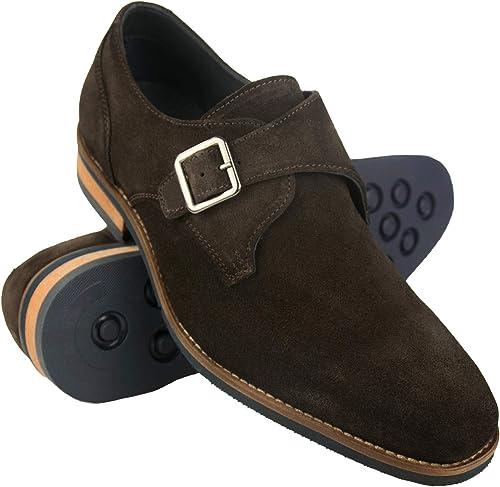 Zapatos de Piel para Hombre |Zapatos de Vestir Hombre | Zapatos Hombre Vestir Piel | Zapatos Hombres Traje| Monk Hombre | Zapatos Hebilla Hombre: Amazon.es: Zapatos y complementos