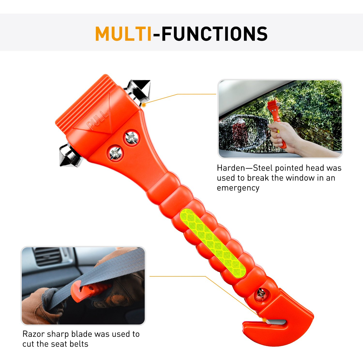 Seatbelt Cutter/Window Breaker made our CampingForFoodies hand-selected list of 100+ Camping Stocking Stuffers For RV And Tent Campers!