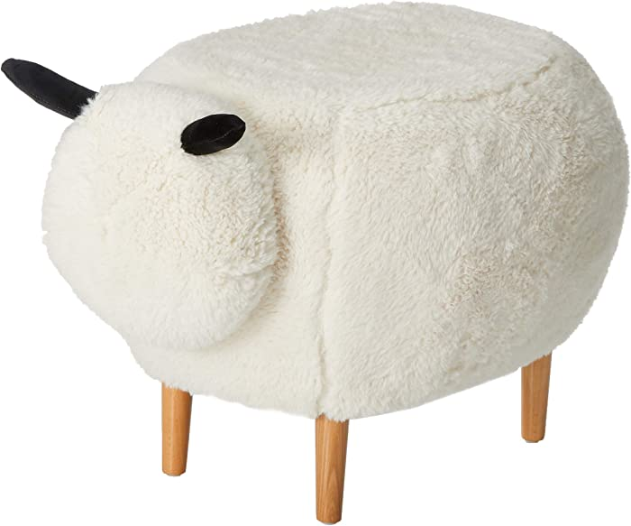 Christopher Knight Home 299781 Living Brebis White Velvet Sheep Ottoman