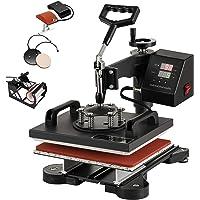 "Smarketbuy 5 in 1 Digital Multifunctional Heat Press Machine 12"" x 10"" Heat Transfer Machine for T Shirts Hat Mug Cap…"