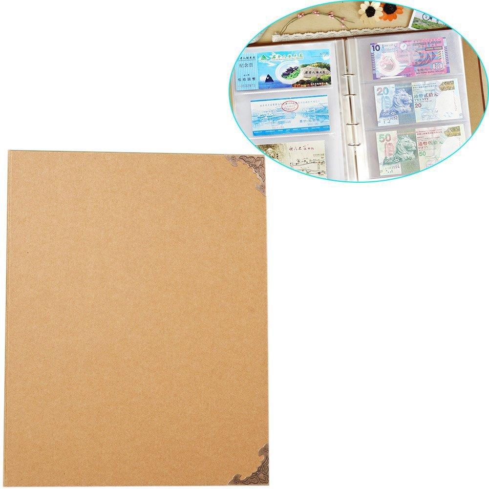 Da Jia Inc Kraft Cover 4-Ring Ticket Stub Album Holds 180 7.5 X 4