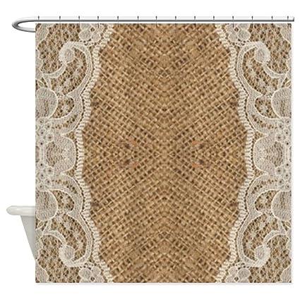 Amazon CafePress Shabby Chic Burlap Lace Decorative Fabric