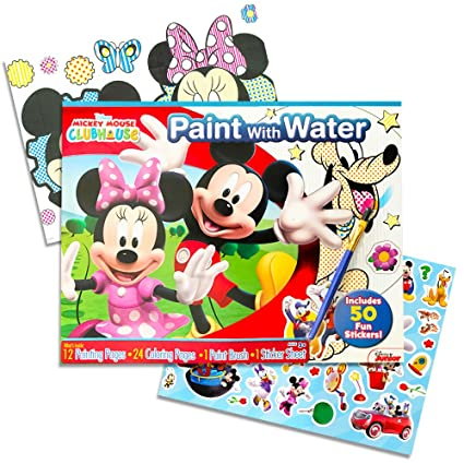 amazon com disney mickey mouse paint with water super set kids