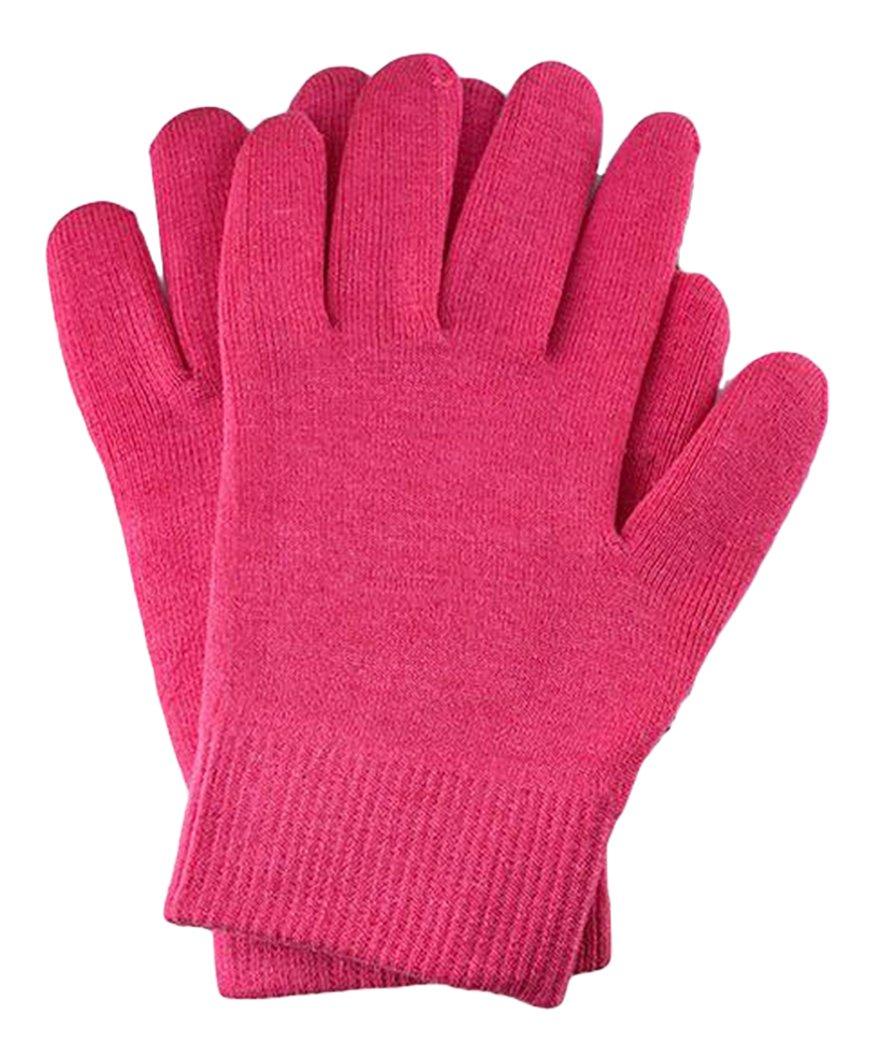 Xiaoyu gel spa guantes suavizar la piel hidratante tratamiento mano máscara guantes de cuidado - rosa