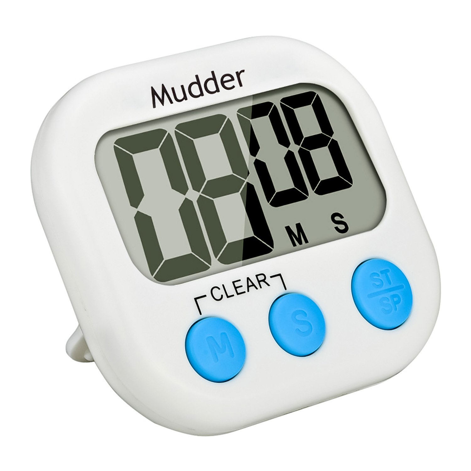 mudder magnetic digital kitchen timer with large lcd display blue