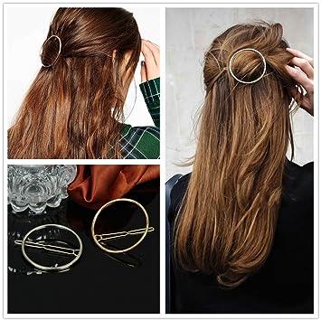 Amazon.com : AKOAK Hollow Hoop Round Circle Geometric Metal Hair ...