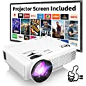 "Thzy DR.J 1800-Lumens Full HD 1080p 4"" LED Mini Projector"