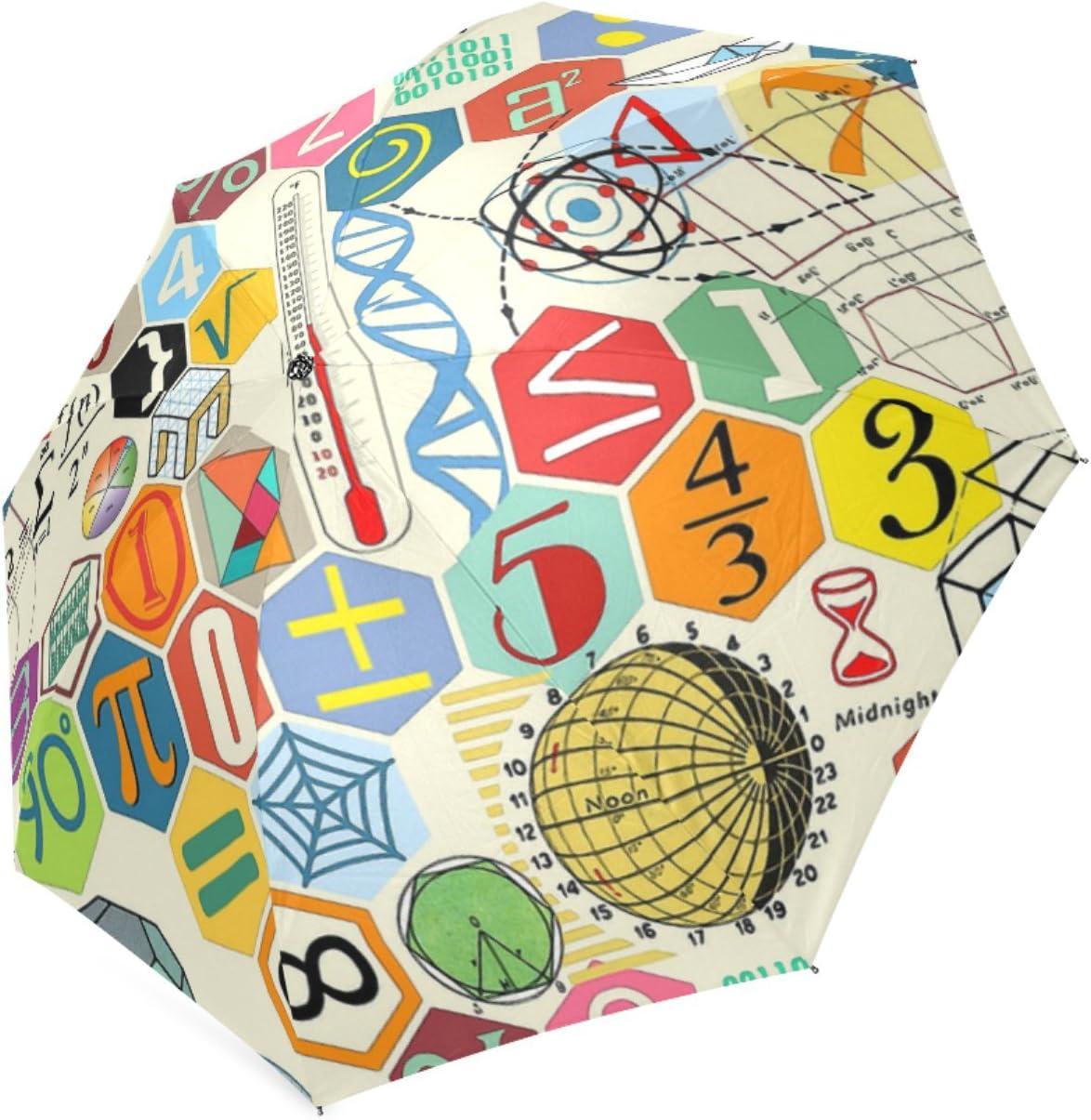 Beautytool Personalized Math In Color Foldable Sun Rain Anti-Uv Umbrella