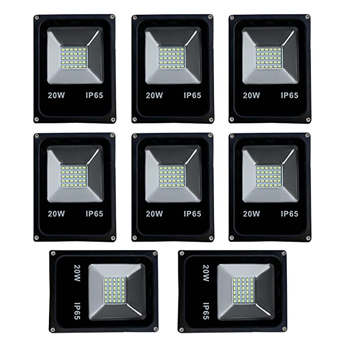 Ultra Slim 20W LED Flood Light FOCUS PURE COOL WHITE AC outdoor Waterproof IP65 - (pack of 8)