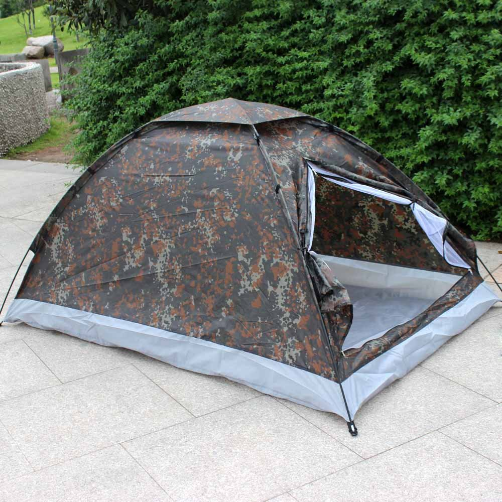 Lixada C&ing Tent for 2 Person Single Layer Waterproof Outdoor Portable Camouflage Amazon.co.uk Sports u0026 Outdoors & Lixada Camping Tent for 2 Person Single Layer Waterproof Outdoor ...