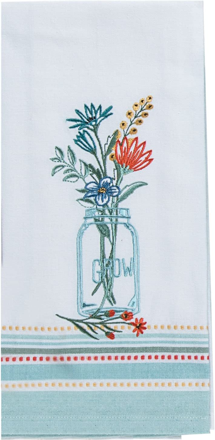 Kay Dee Designs R3948 Blooming Thoughts Embroidered Tea Towel