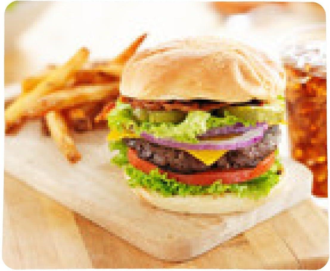 alfombrilla de ratón hamburguesa de tocino con patatas fritas ...