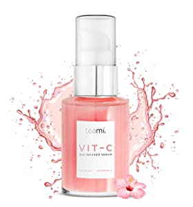 Teami Topical Vitamin C Serum - 1 fl oz. with Hyaluronic Acid, Collagen, and Vitamin E Oil
