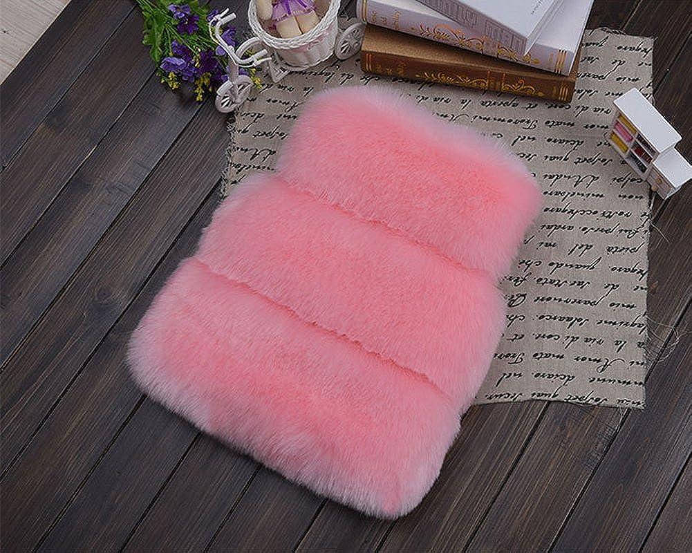 FOLOBE Bambini Autunno Inverno Faux Pelliccia Vest Cappotti Indumenti Caldi Cappotto Felpa Sleeveless Casual