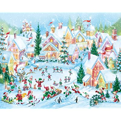 Elf Village Christmas Jigsaw Puzzle 1000 Puzzle: Toys & Games