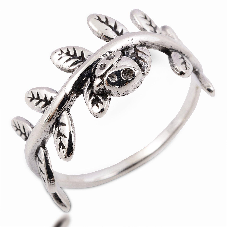 Thai Ladybug Ring 925 Sterling Silver Size.9 R