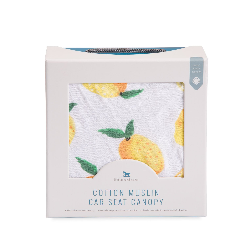 Little Unicorn Cotton Muslin Car Seat Canopy - Lemon