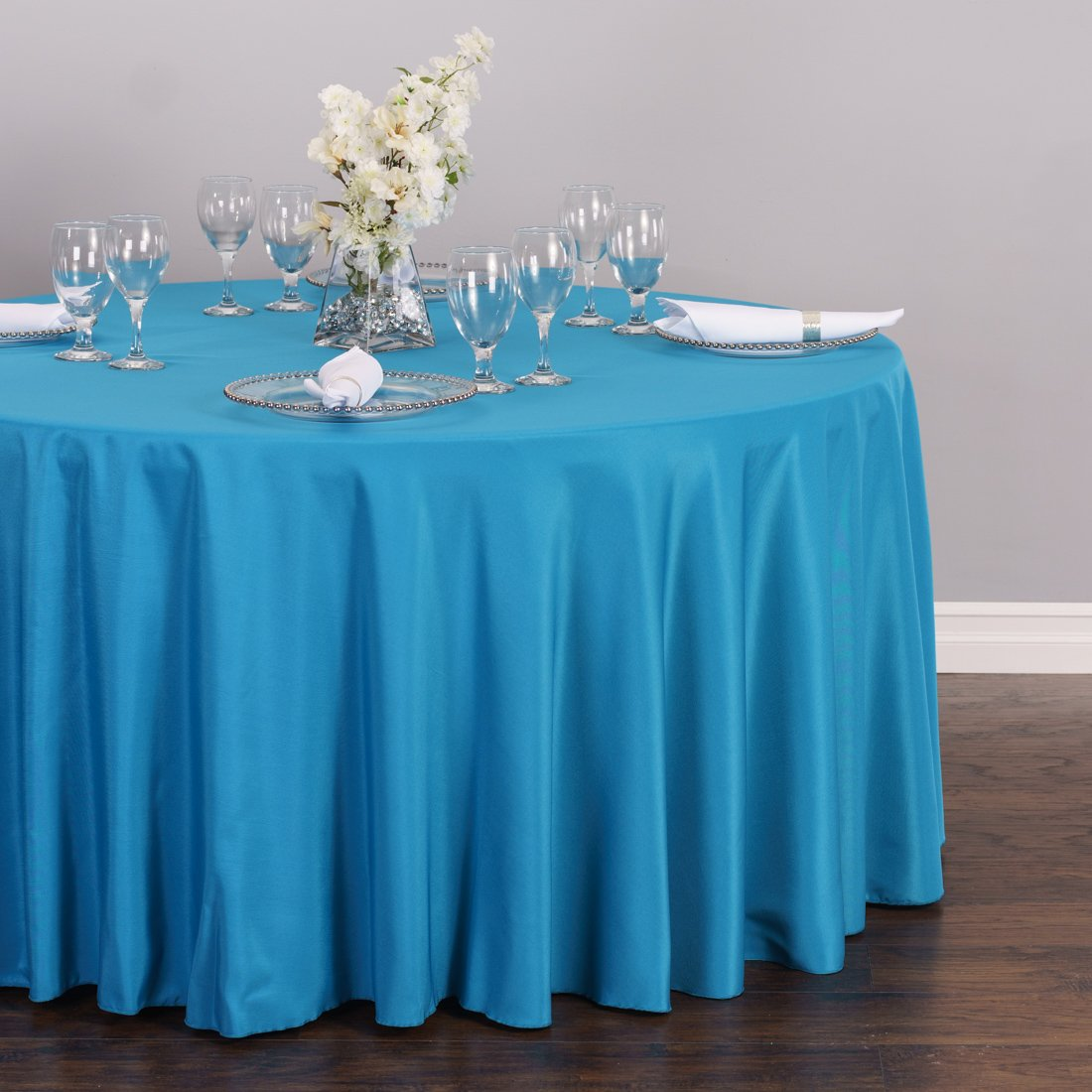 Amazoncom LinenTablecloth 120 Inch Round Polyester Tablecloth Caribbean