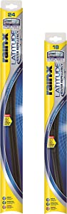 """Rain-X 810164 24"""" and 18"""" Latitude Water Repellency Wiper Blade, 2 Pack"""