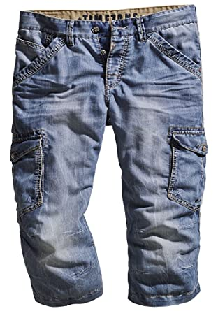 34 Short Pour MAmazon Time Bleu Zone Jeans Damiro Homme Cargo O8n0kwP