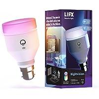 LIFX Nightvision A60 1200 lumens [B22 Bayonet Cap], Full Colour with Infrared, Wi-Fi Smart LED Light Bulb, No Bridge…