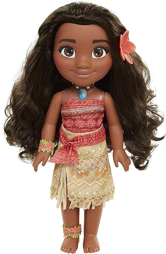 Amazon.es: Glop Games- Princesa Disney, muñeca Vaiana Detalle. Fíjate en su Pelo, Vestido, Flor de Polinesia Toddler 35cm, 38 cm (04703): Juguetes y juegos