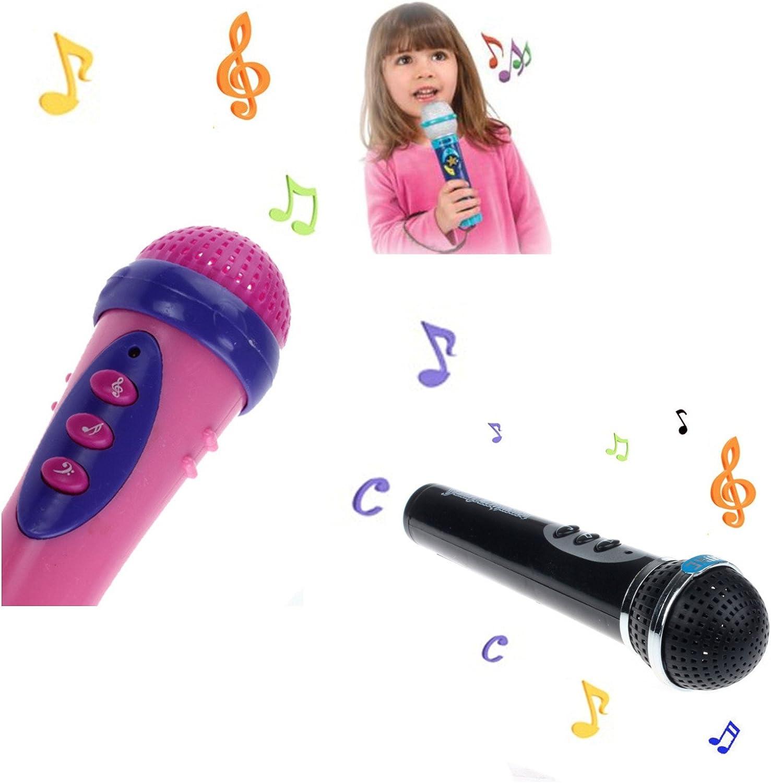 Wireless Girls Boy LED Microphone Mic Karaoke Singing Kids Funny Music Toy Call