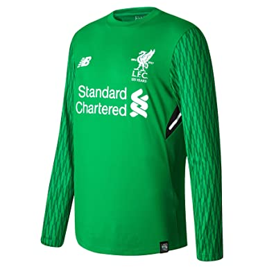 quite nice 21904 e2590 Liverpool FC 17/18 Kids Goalkeeper Home L/S Football Shirt ...