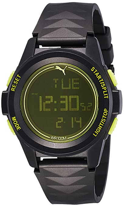 Puma Digital Black Dial Men's Watch-PU911161001 at amazon