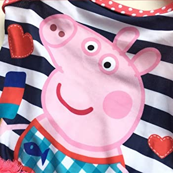 fa122ab4704af Girls Summer Peppa Pig One-Piece Bikini Swimsuit Baby Bathing Suit 2-6T  (6-7T). Meteora Girls Summer Peppa Pig One-Piece Bikini Swimsuit ...