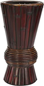 Nearly Natural 503 Bamboo Decorative Planter, Brown