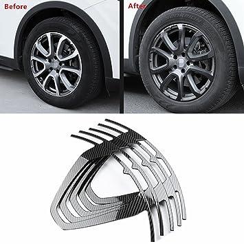 YOCTM - Pegatina para llantas de fibra de carbono, color negro, para decoración exterior de la rueda Maserati Levante de 48,26 cm: Amazon.es: Coche y moto