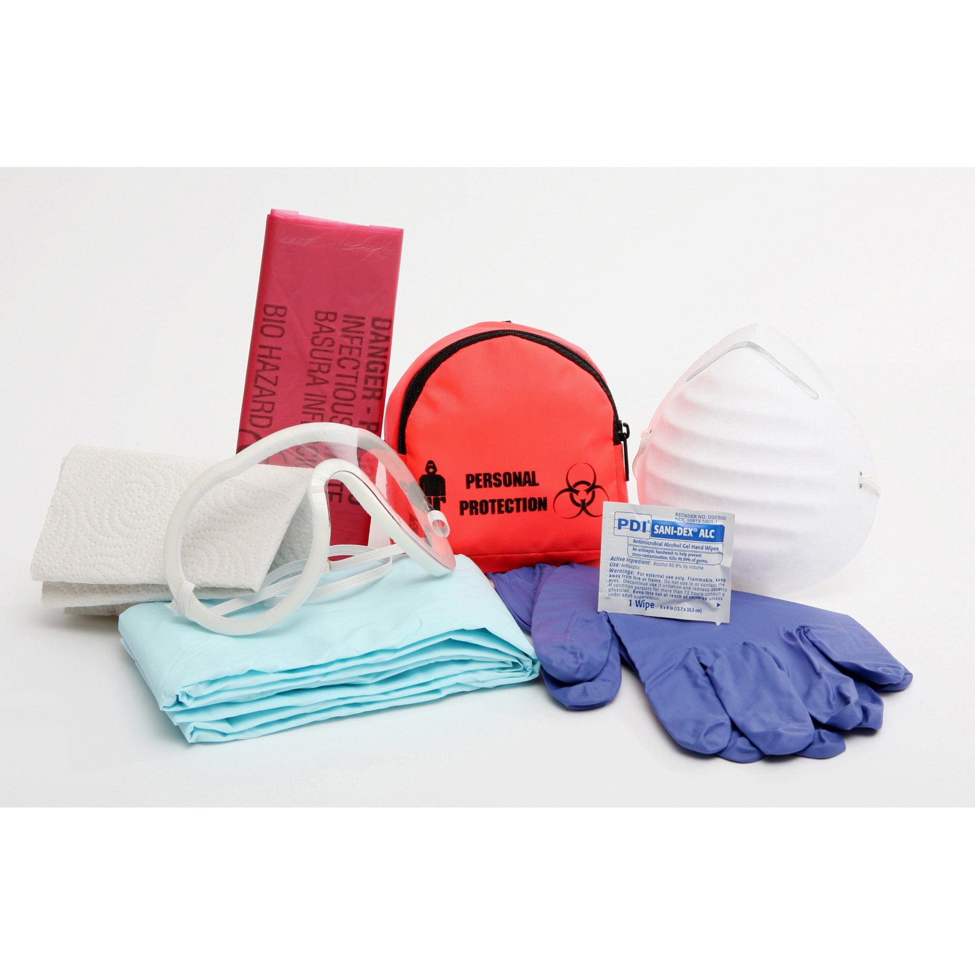 Certified Safety FK200-906 10PW Bloodborne Pathogen Deluxe in Poly White by Certified Safety