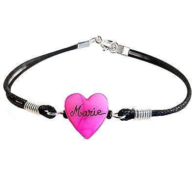 Bracelet enfant personnalisé avec son prénom-Cadeau joli et pas cher. Bracelet  rose clair 58cc1974b345