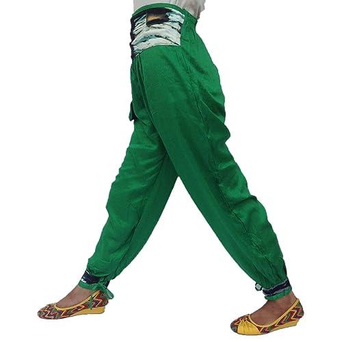 De Moda Estilo Nepalí Atrás Elástica Cintura 4 Delantero Bolsillo Rayón Pijama Pantalón