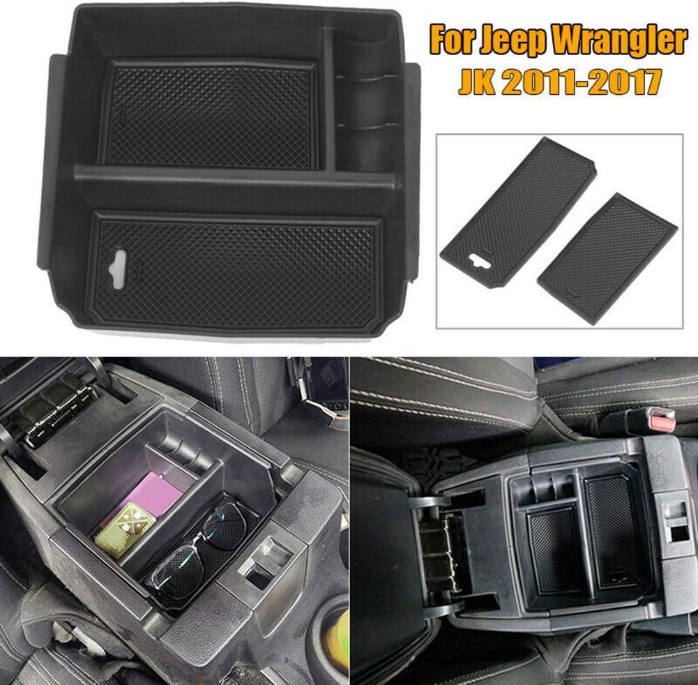Ajboy Organisateur de Voiture Console Centrale accoudoir bo/îte de Rangement Accessoires int/érieurs de Voiture pour Jeep Wrangler jk 2011-2017