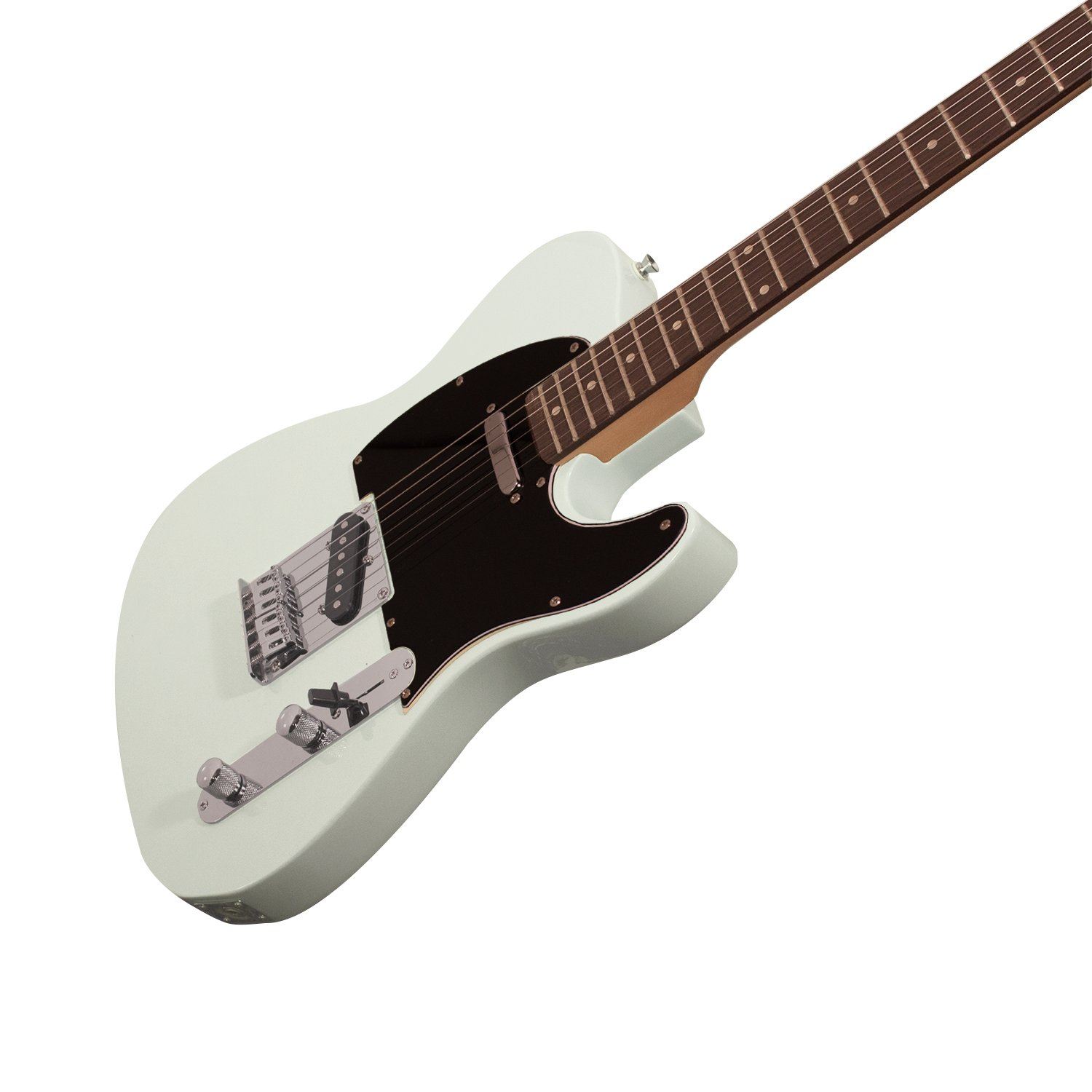 Sawtooth ST-ET-SGRB Electric Guitar, Surf Green with Black Pickguard