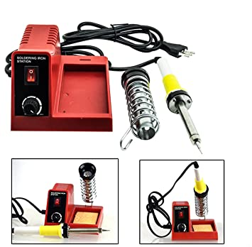 Takestop® Estación de soldadura soldador 40 W ts2552 eléctrico a estaño analógico con 3 puntas Salda eléctrica Soldadura alambre circuitos: Amazon.es: ...