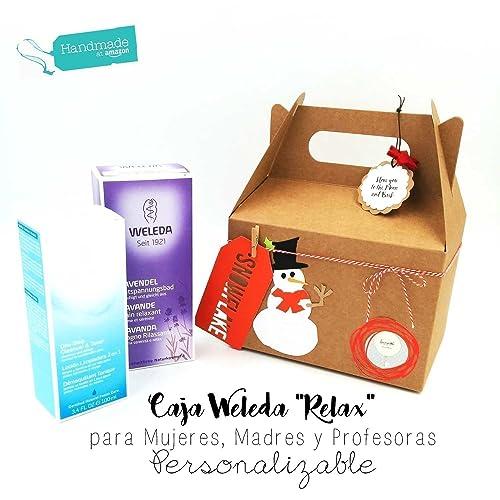 """Set """"Relax"""" con Productos WELEDA decorado en estilo Navideño   Regalo para Mujeres"""