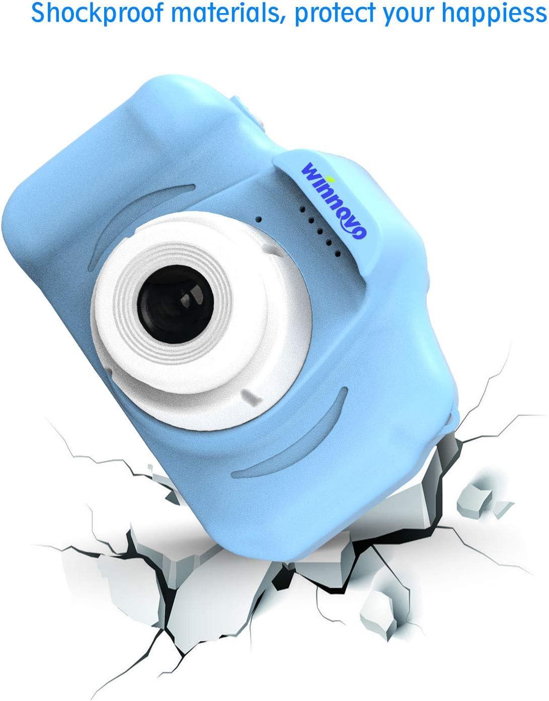 Blau Winnovo KinderKamera Geschenke f/ür 3-10 Jahre alte Jungen und M/ädchen Mini-Camcorder f/ür Kinder mit weicher sto/ßfester Silikonh/ülle Geburtstagsgeschenk-Kamera 2,0 Zoll HD-Bildschirm
